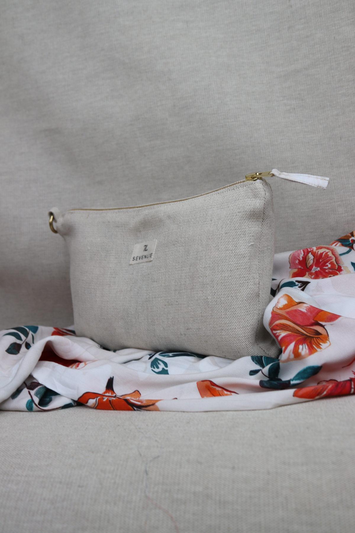 pochette lin Bali