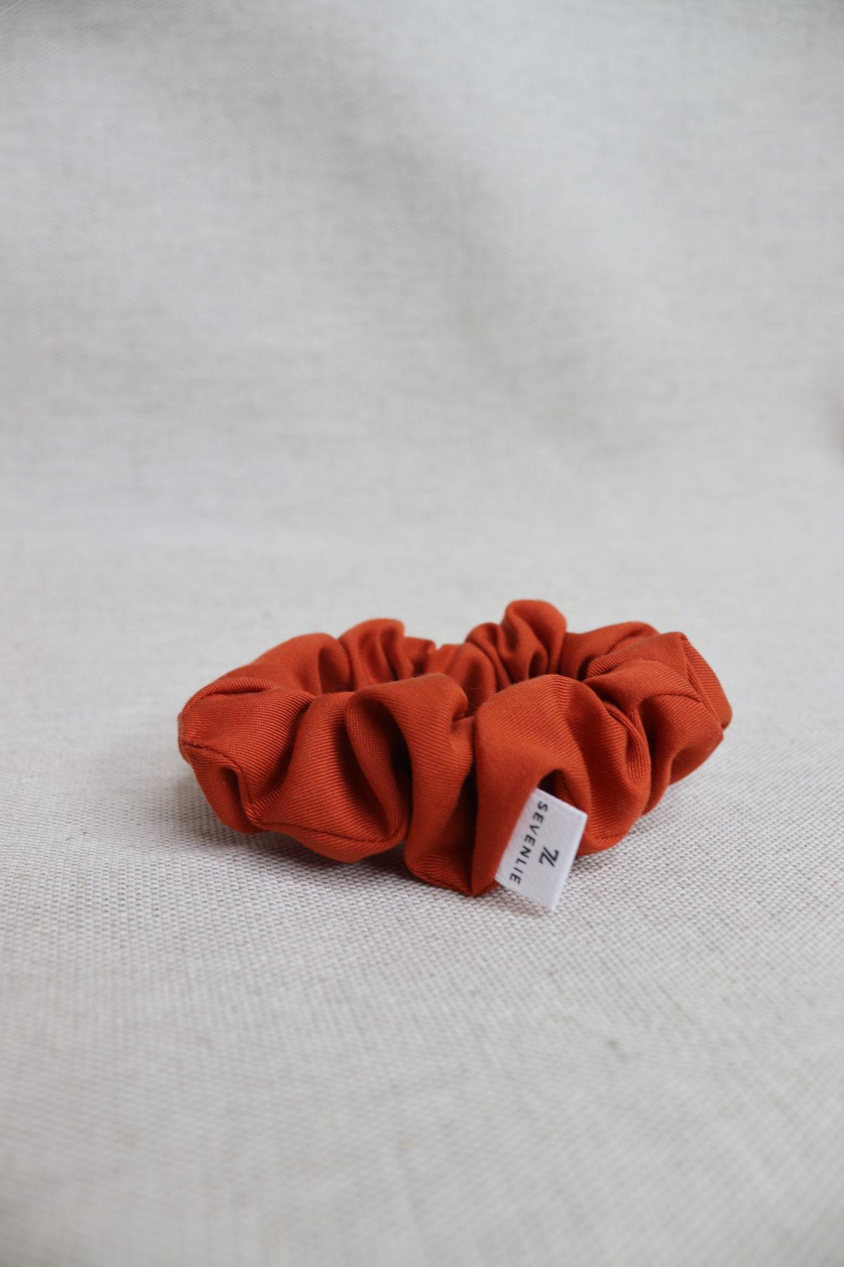 Chouchou tencel - Terracotta - Sevenlie